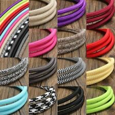 3M Vintage Colorful Twist Braided Fabric Cable Wire Electric Pendant Light Acces