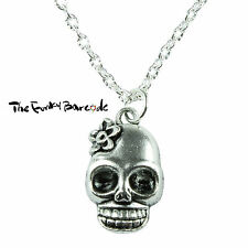 TFB - CARNIVAL SKULL PENDANT NECKLACE GIFT QUIRKY FUNKY NOVELTY FANTASY EVIL FUN
