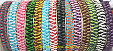 NEW HANDMADE 2 COLOUR BRAIDED SURFER FRIENDSHIP BRACELET / ANKLET MIXED COLOURS