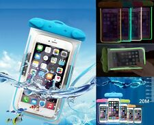 20M Underwater Waterproof Case Fluorescent Cover Bag Dry Pouch For Mobile Phones