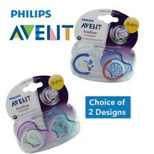 Philips Avent Soother Twin Pack - Age 0-6m CHOICE OF DESIGN BOY/GIRL (A55)