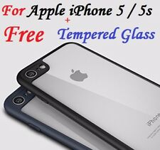 For Apple iPhone 5 5s Soft Transparent Back Cover With Camera Soft Bumper Case