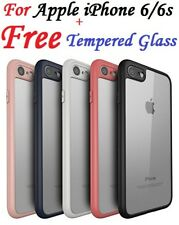 For Apple iPhone 6 6s Soft Transparent Back Cover With Camera Soft Bumper Case