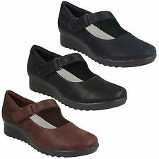 Caddell YALE Clarks da donna cloudsteppers zeppa mary jane Pantaloni Casual