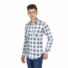 BRANDED A & F MEN'S BLUE CHECK SMART CASUAL/FORMAL SHIRT FOR MEN'S & BOY'S