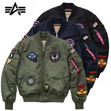 ALPHA INDUSTRIES giacca uomo MA-1 VF DIY Bomber BOMBER GIACCA S fino a 3XL