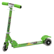 NHR foldable 3-wheel scooter with LED in the wheels and handle brake for kids