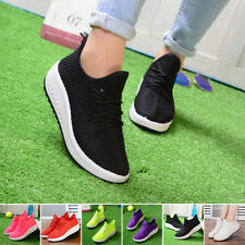 Lady Women's Sports Sneakers Breathable Mesh Running Flat Shoes Walking Trainers