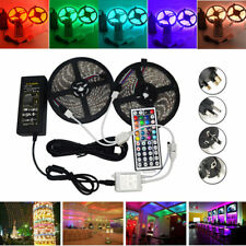 10M SMD 5050 Waterproof RGB 600 LED Strip Light + IR Controller + Cable Connecto