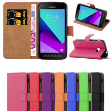 Samsung Galaxy Xcover 4 Case -  Leather Wallet Flip Book Stand View Case Cover