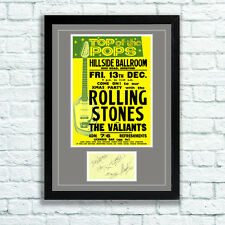 The Rolling Stones Concert Poster and Autographs Memorabilia Poster Hereford 63