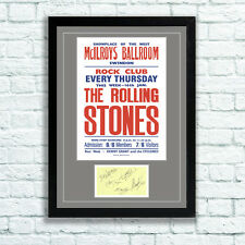 The Rolling Stones Concert Poster and Autographs Memorabilia Poster Swindon 64