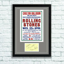 The Rolling Stones Concert Poster and Autographs Memorabilia Poster Slough 64