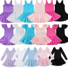 Baby Girls Gymnastics Ballet Dance Wear Kids Ballet Tutu Dress Leotard Costumes