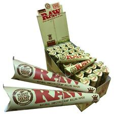 RAW Organic Hemp Cones - King Size Slim Pre Rolled Papers - 3 cones/pack 110mm
