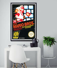 1985 Super Mario Brothers Original Box POSTER! (24x36 or smaller) - High Quality