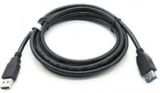 SuperSpeed USB 3.0 1m/1.5m/3m/5m Type A Male to Female Extension Cable Black Lot