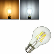 Dimmable B22 A60 6W Pure White Warm White COB Filament Edison Retro Light Lamp B