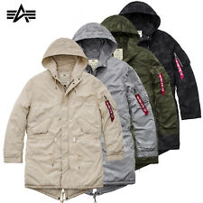 Alpha Industries Jacke Hooded Fishtail CW Hidden Camo Parka Mantel Coat S - 3XL