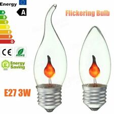 3W E27 Retro Fire Flame Candle Edison Light Bulb Lamp Chandelier Red Lighting 22