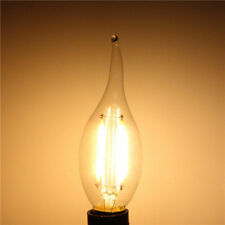 E14 2W White/Warm White Non-Dimmable COB LED Filament Retro Edison Candle Bulbs