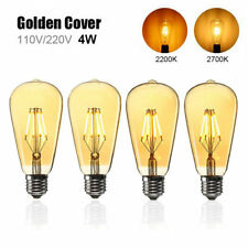 E27 ST64 4W Golden Cover Dimmable Edison Retro Vintage Filament COB LED Bulb Lig