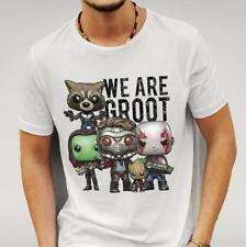 GUARDIANS OF THE GALAXY 2 INSPIRED ' WE ARE GROOT' WHITE TSHIRT