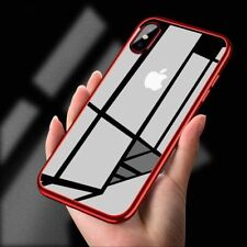 For Apple iPhone X 8 7 6 Plus Luxury Ultra Thin Clear Soft TPU Rubber Case Cover