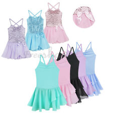 Kids Girls Gymnastics Leotard Ballet Dance Dress Children Dancer Straps Costume