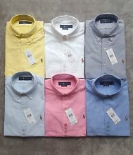 Polo Ralph Lauren Mens Custom Fit Oxford Shirt Formal Casual Smart New S M L XL