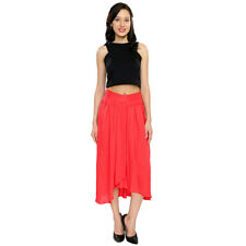 Smarty Pants Women's Pink Hi Low Casual Skirt (SD-16A)
