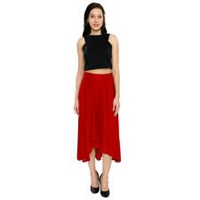 Smarty Pants Women's Red Hi Low Casual Skirt (SD-16B)