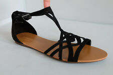 M&S Ladies Sandals by LIMITED EDITION  in Black Suede Effect Upper