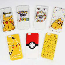 Shockproof Cartoon Pokemon Pikachu Phone Case Cover For iPhone 5 / 5s 6s 6 Plus
