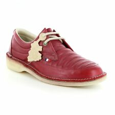 POD Heritage Jagger Mens Leather 2-Eyelet Shoes - Burgundy Red
