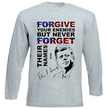 JOHN KENNEDY FORGIVE QUOTE - NEW COTTON GREY TSHIRT