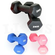 2kg 3kg Neoprene Iron Dumbbells Aerobic Strength Hand Weights Gym Home Fitness
