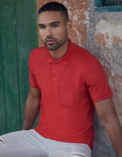 Polo hombre manga corta con bolsillo interior S- XXL 3xl Polo Fruit of the Loom