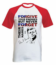 JOHN KENNEDY FORGIVE QUOTE - NEW COTTON BASEBALL TSHIRT ALL SIZES