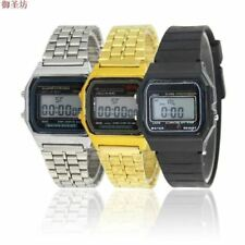 Gold Stainless Steel Strap LED Men Sports Watch Relogio Digital Mens Watches Top