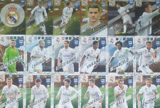 Panini Adrenalyn XL FIFA 365 2018 REAL MADRID 118 - 135 Trading Cards aussuchen