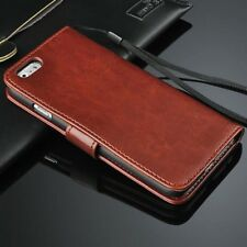 Genuine Real Leather Flip Wallet Case Cover for Apple iPhone 6 6S Plus 7 7 Plus