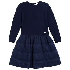 BNWT Branded Tartine et Chocolat Girls' Knitted Dress Navy 8Y 10Y RRP £69.95