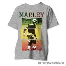 OFFICIAL LICENSED - BOB MARLEY - RASTA FOOTBALL T SHIRT - REGGAE KAYA