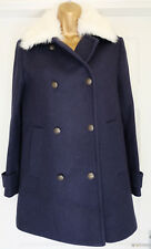 M&S Limited Edition Wool Rich Double Breasted Coat with Detachable Furry Collar