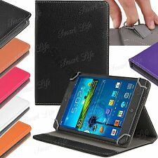 """Universal Leather Folding Stand Case Cover For 10"""" 10.1"""" Inch Android PC Tablet"""