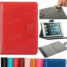 """Universal Leather Folding Stand Case Cover For 10"""" 10.1 Inch Android Tablet PC"""