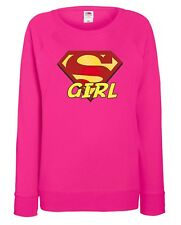 FELPA FUXSIA DONNA  FRUIT OF THE LOOM SUPER GIRL