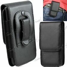 PU Leather Magnetic Flip Belt Clip Hip Case Pouch Holster For Apple Samsung HTC