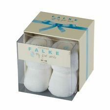 Falke Baby Erstling Ankle My First Socks White Sizes 0-1 month & 1-6 months BNWB